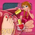 Annanın ayak makyajı