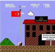 Mario okul yolunda oyunu oyna, mouse ile yön tuşları ile oynanıyor
